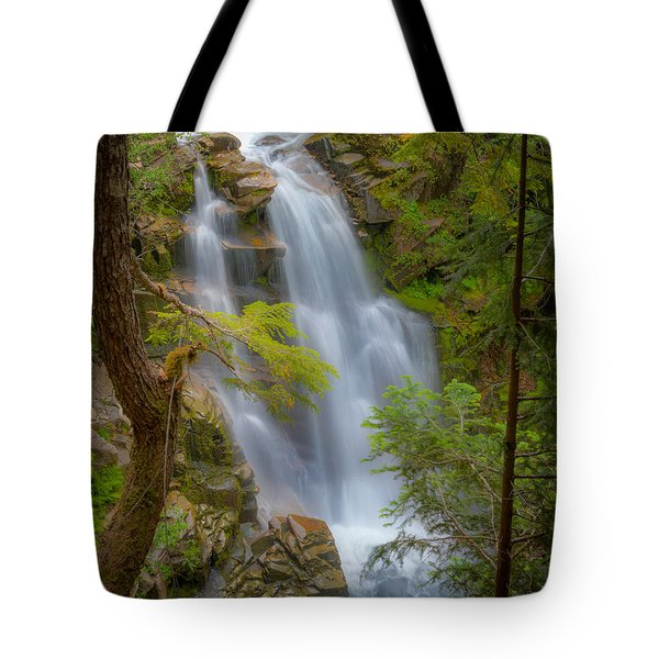 Mountain Waterfall 5613 Tote Bag