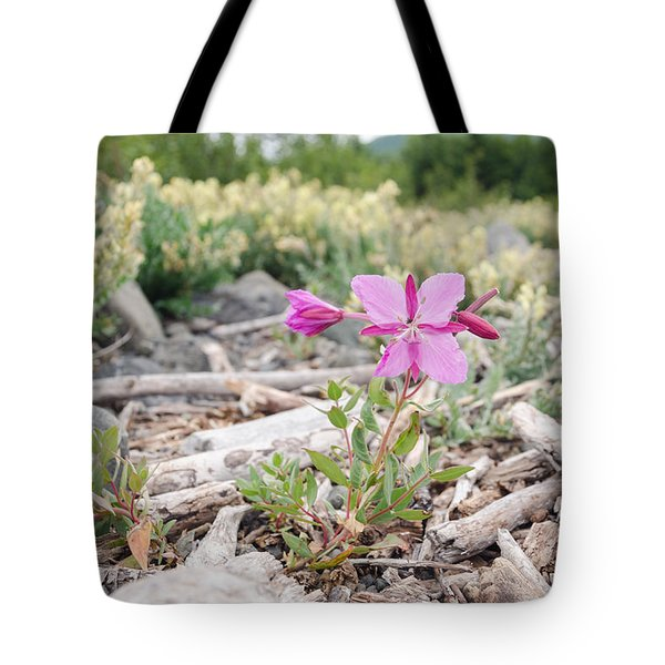 Mountain Wild Flowers Tote Bag