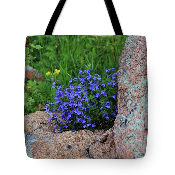 Tote Bag featuring the photograph Mountain Wildflowers by Shane Bechler