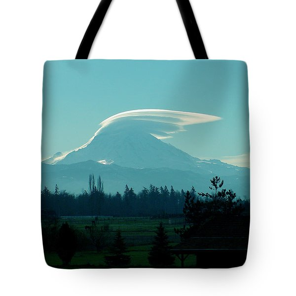 Mountain Wings Tote Bag