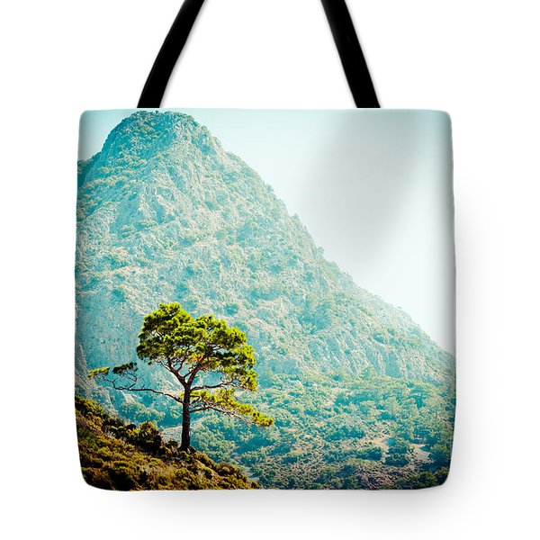 Mountain With Pine Artmif.lv Tote Bag