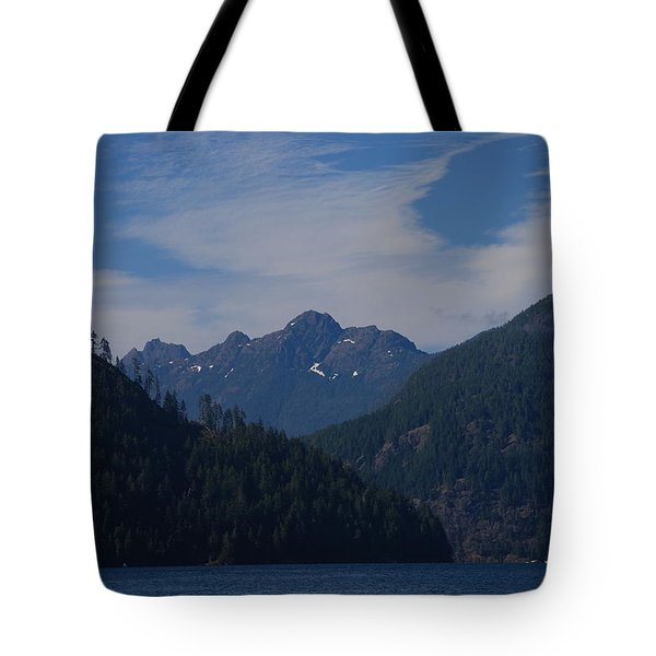 Mountain With Summer Snow Tote Bag