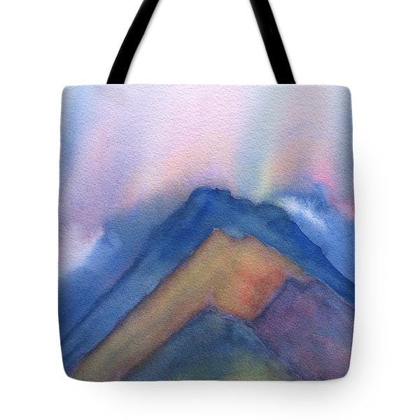Mountains Abstract Tote Bag by Frank Bright