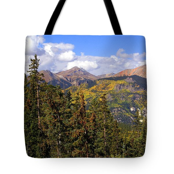 Mountains Aglow Tote Bag by Marty Koch