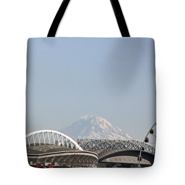 Mountains And City Tote Bag