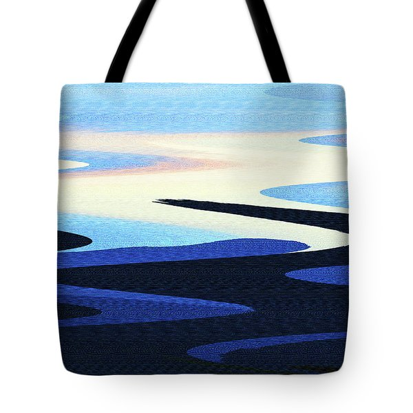 Mountains And Sky Abstract Tote Bag by Tom Janca