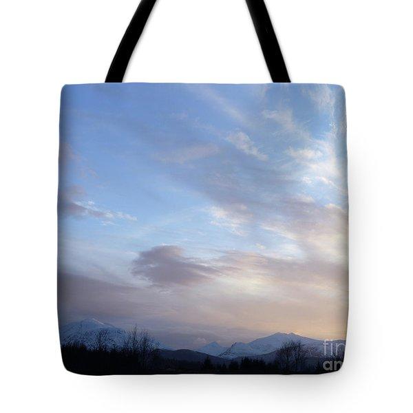 Mountains And Sky Tote Bag