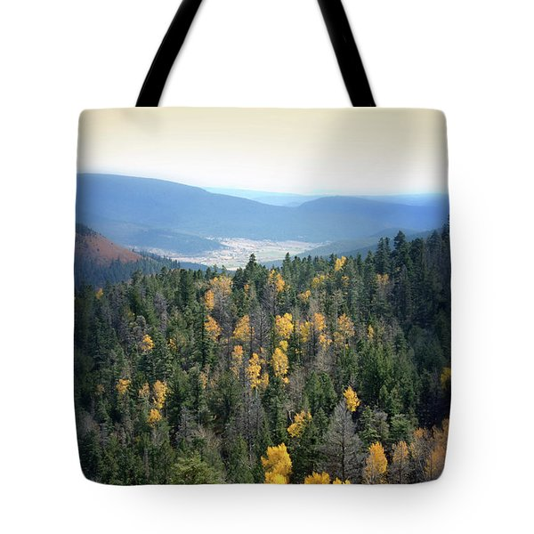 Mountains And Valley Tote Bag by Jill Battaglia