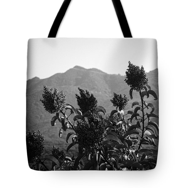 Mountains And Vegetation Tote Bag