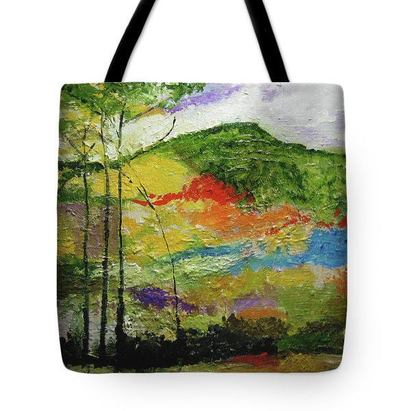 Mountains And Water Tote Bag