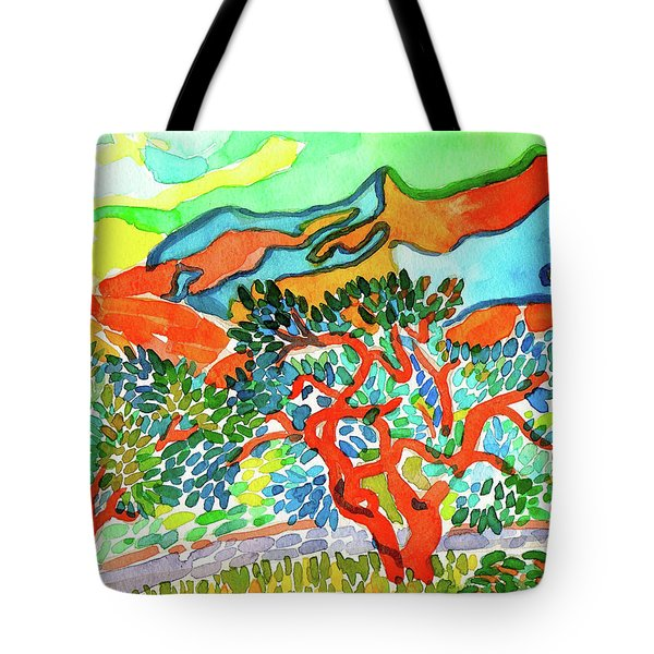 Mountains At Collioure Tote Bag