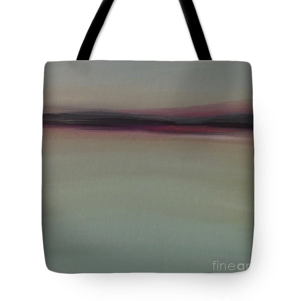 Tote Bag featuring the painting Mountains At Dawn by Michelle Abrams