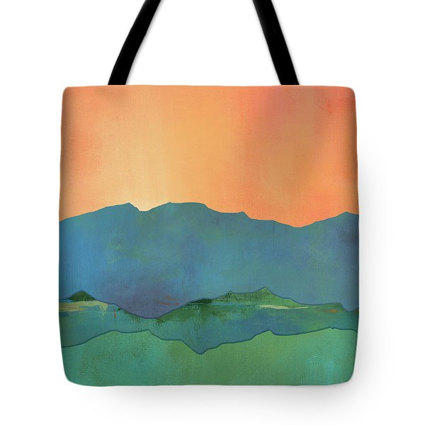 Mountains At Sunrise Tote Bag by Jacquie Gouveia