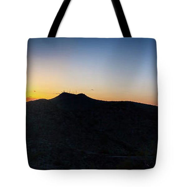 Mountains At Sunset Tote Bag by Ed Cilley