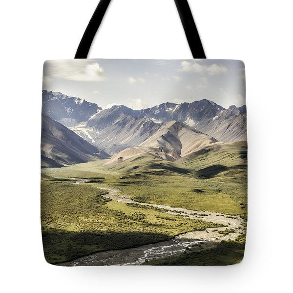 Mountains In Denali National Park Tote Bag