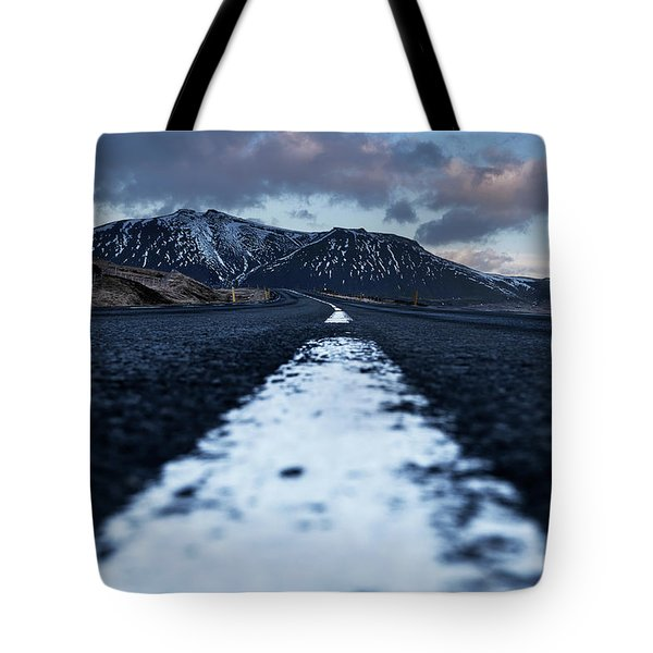 Mountains In Iceland Tote Bag