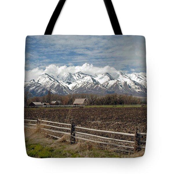 Mountains In Logan Utah Tote Bag