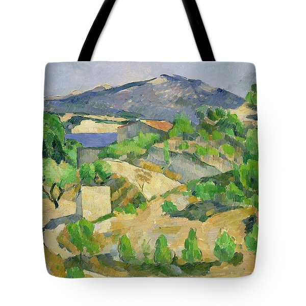 Mountains In Provence Tote Bag by Paul Cezanne