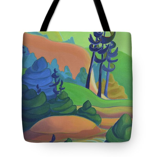 Hills In Spring Tote Bag