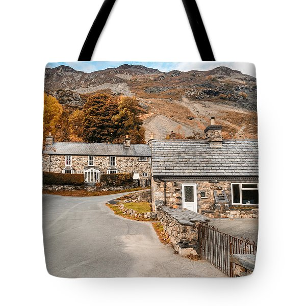 Mountains In The Back Yard Tote Bag