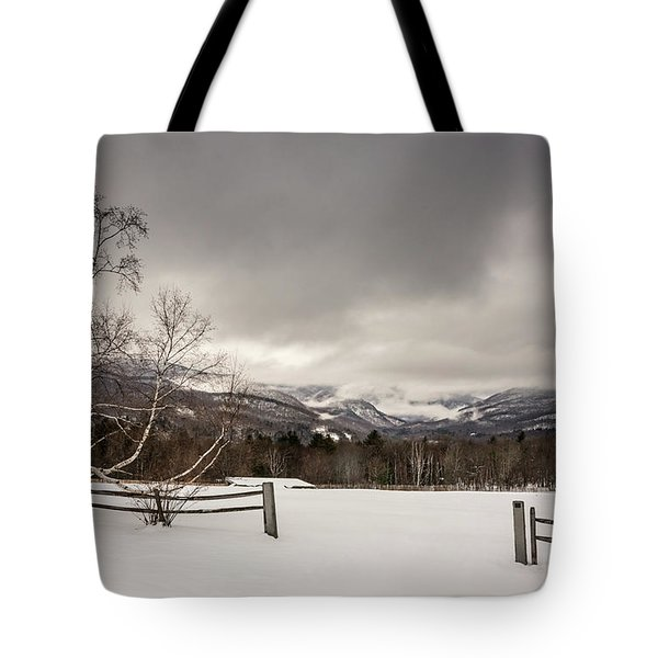 Mountains In Winter Tote Bag