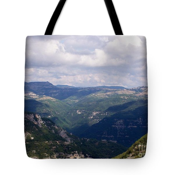 Tote Bag featuring the photograph Mountains Of Central Italy by Judy Kirouac