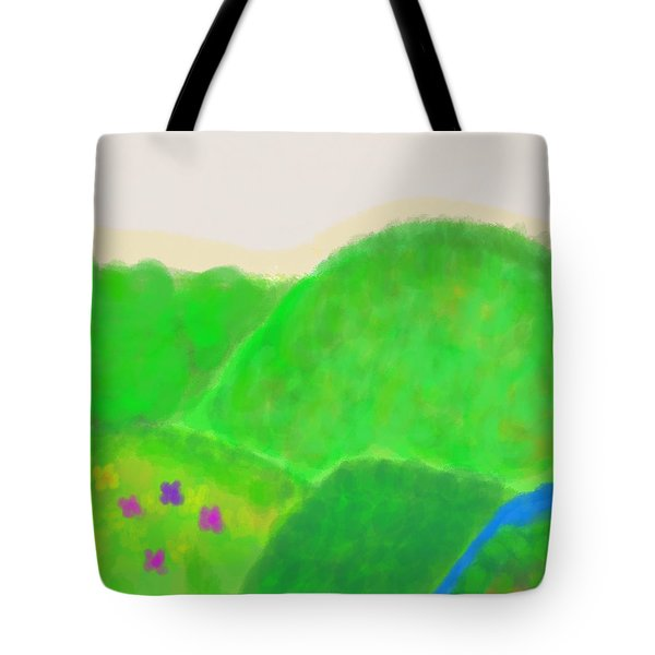 Mountains Of Land And Love Tote Bag