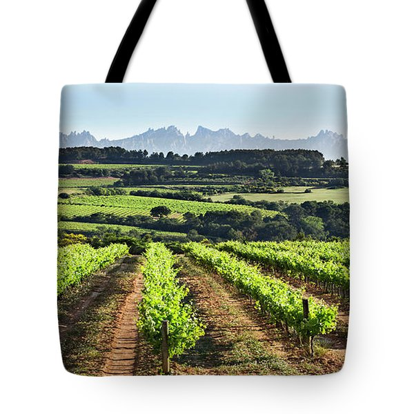 Mountains Of Montserrat Catalunya Tote Bag by Gina Dsgn