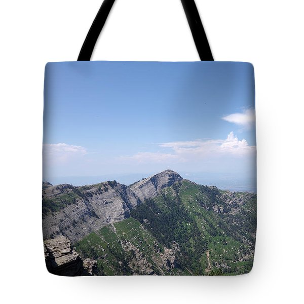 Mountains Of The Gods Tote Bag