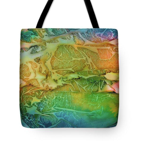 Mountains, Trees, Icy Seas Tote Bag