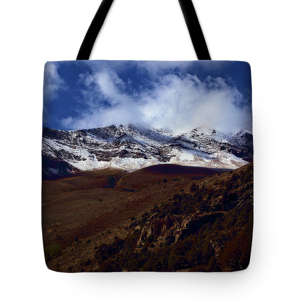 Mountains View From Aerie Crag Campground Tote Bag