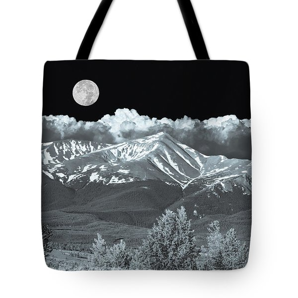 Mountains, When High Enough And Tough Enough, Measure Men.  Tote Bag by Bijan Pirnia