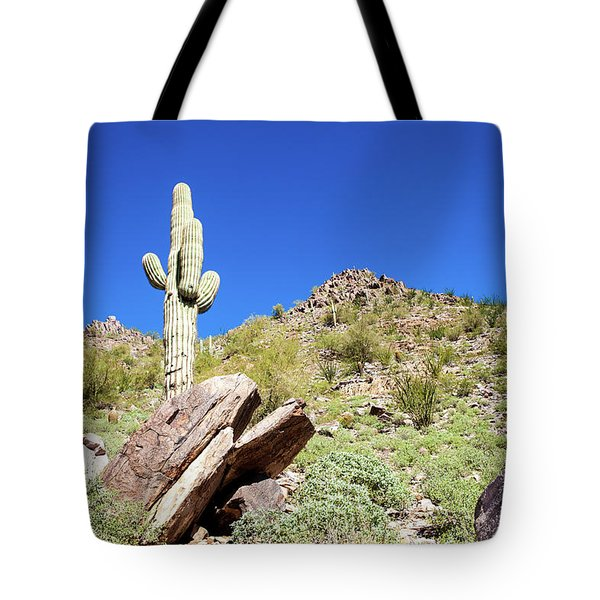 Mountainside Cactus 2 Tote Bag by Ed Cilley