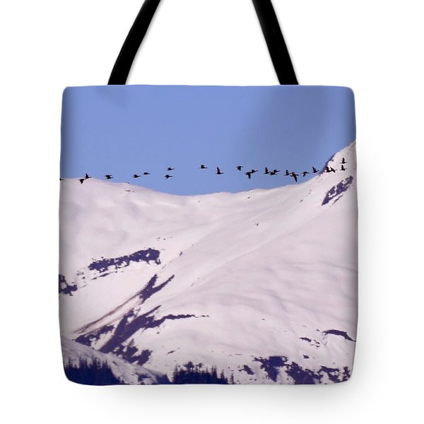 Mountaintop Geese II Tote Bag