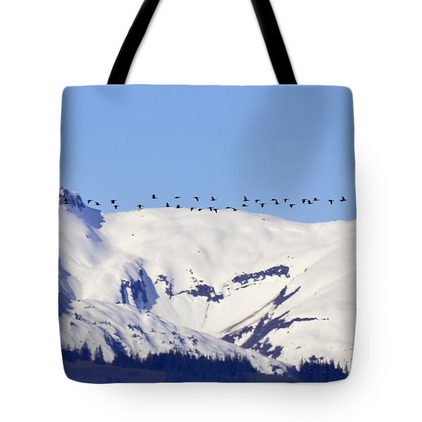 Mountaintop Geese Tote Bag