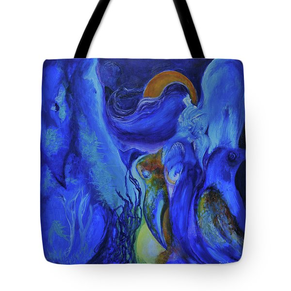 Mourning Birds Of The Final Flower Tote Bag by Christophe Ennis