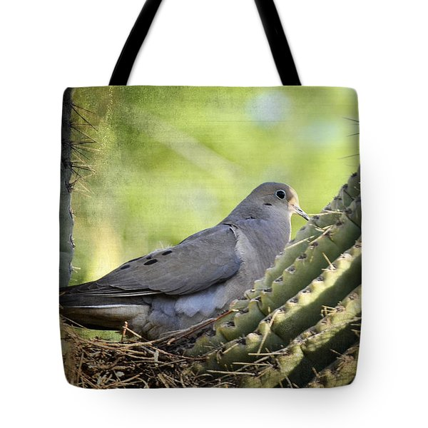 Mourning Dove In The Morning  Tote Bag by Saija  Lehtonen