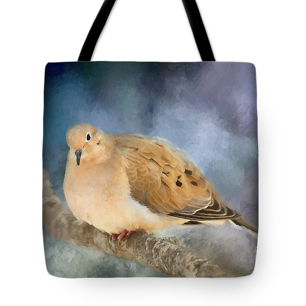 Mourning Dove Of Winter Tote Bag