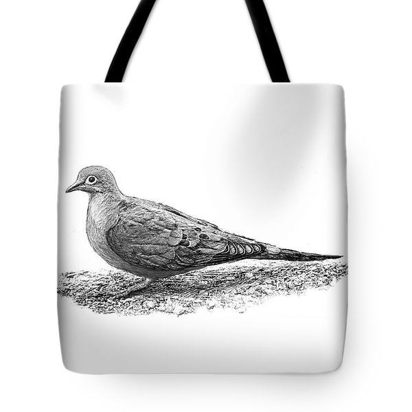 Mourning Dove B And W Tote Bag