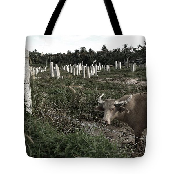 Mourning In The Palm-tree Graveyard Tote Bag