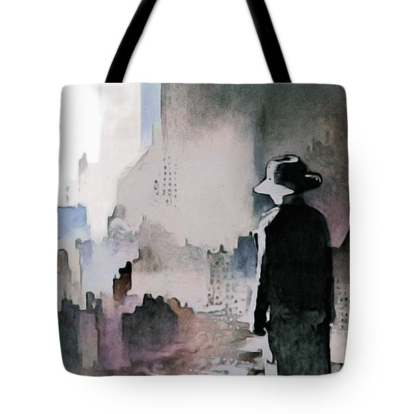 Tote Bag featuring the painting Mourning The American Dream by Susan Maxwell Schmidt