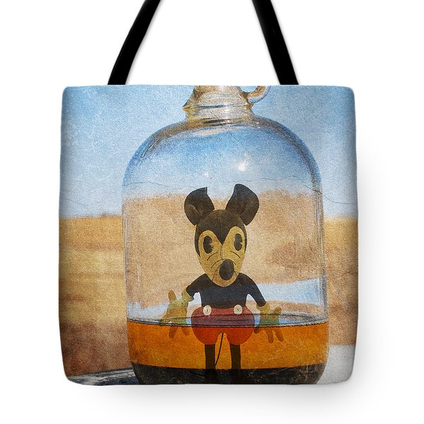 Mouse In A Bottle  Tote Bag
