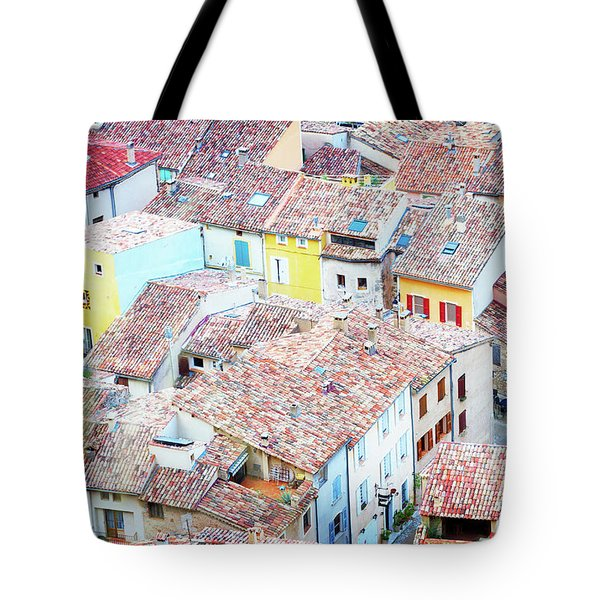 Moustiers Sainte Marie Roofs Tote Bag