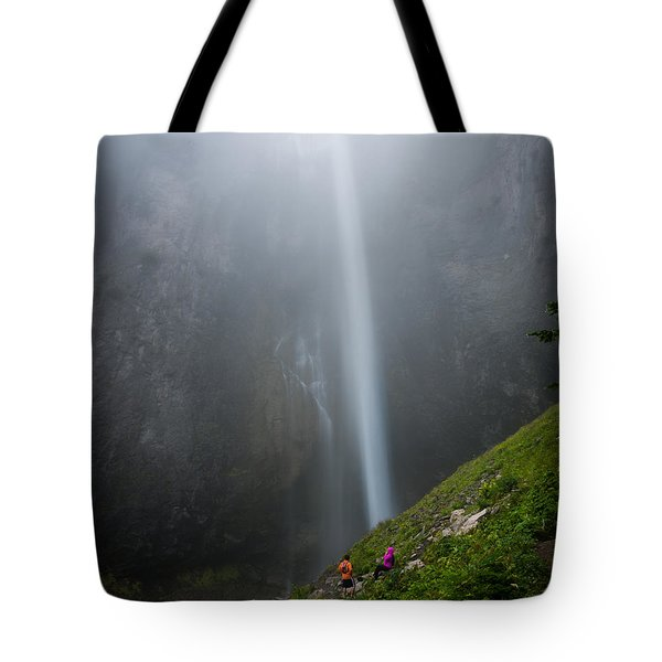 Moutain Waterfalls 5817 Tote Bag by Chris McKenna