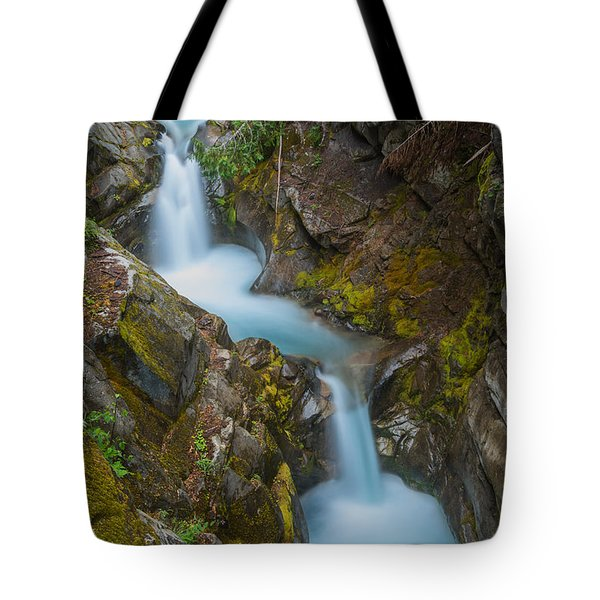 Moutain Waterfalls 5857 Tote Bag by Chris McKenna