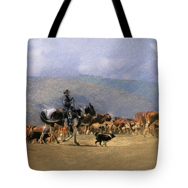 Move Em Out Tote Bag by Ed Hall