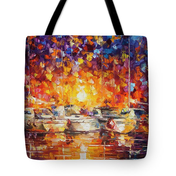 Movement Of The Sea Tote Bag by Leonid Afremov