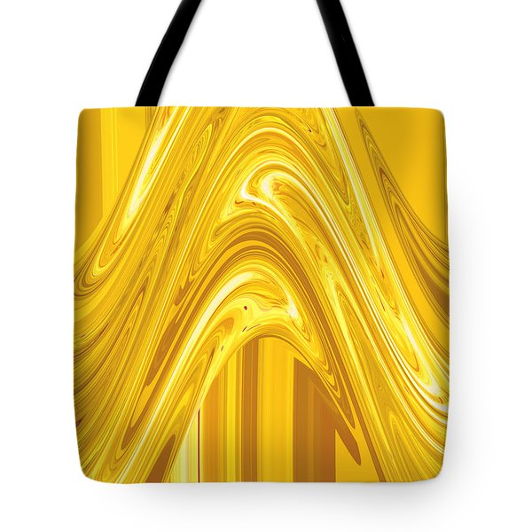 Moveonart Golden Light Wave Tote Bag by Jacob Kanduch