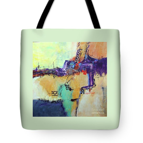 Movin' Left Tote Bag by Ron Stephens