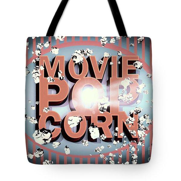 Movie Pop Corn Tote Bag